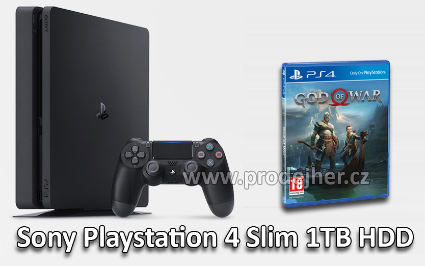 Sony PS4 Slim 1TB + God of War v češtině