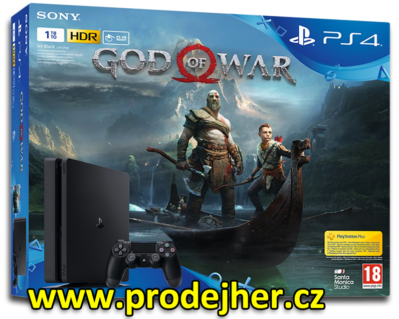 Sony PS4 Slim 1TB + God of War CZ PS4 hra
