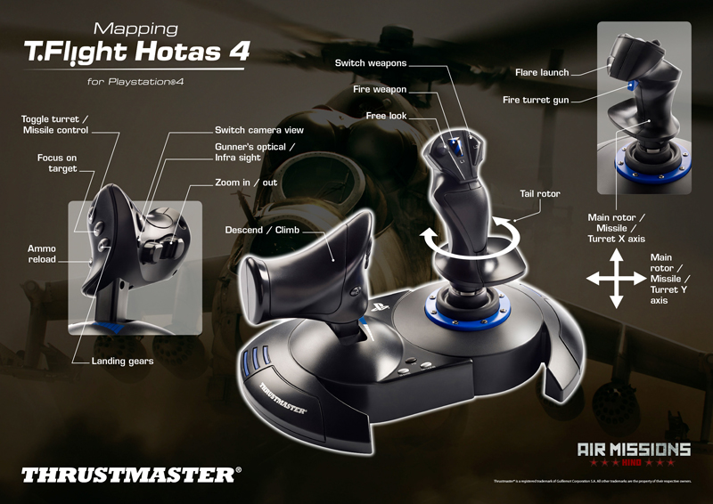 Air Hind PS4 hra na joystick