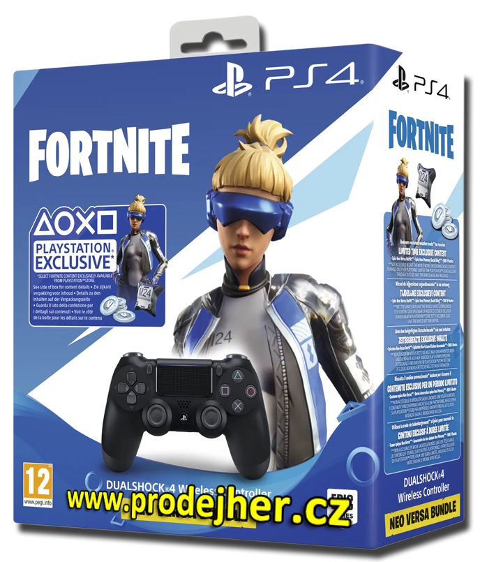 Sony Dualshock 4 v2 Fortnite Neo Versa bundle