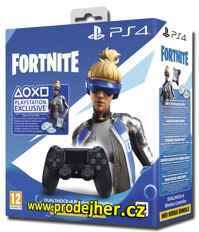 Sony Dualshock 4 v2 Fortnite bundle