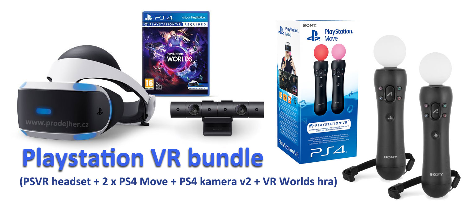 Sony Playstation VR v2 double Move bundle