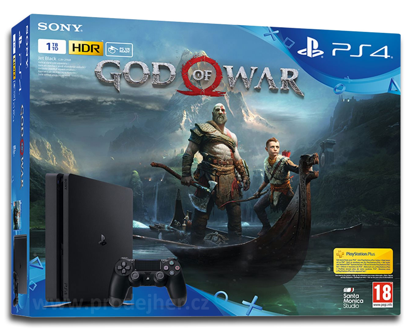Sony PS 4 Slim 1TB God of War bundle