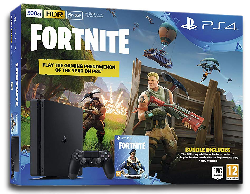 Sony Playstation 4 Slim 500 GB + Fortnite PS4