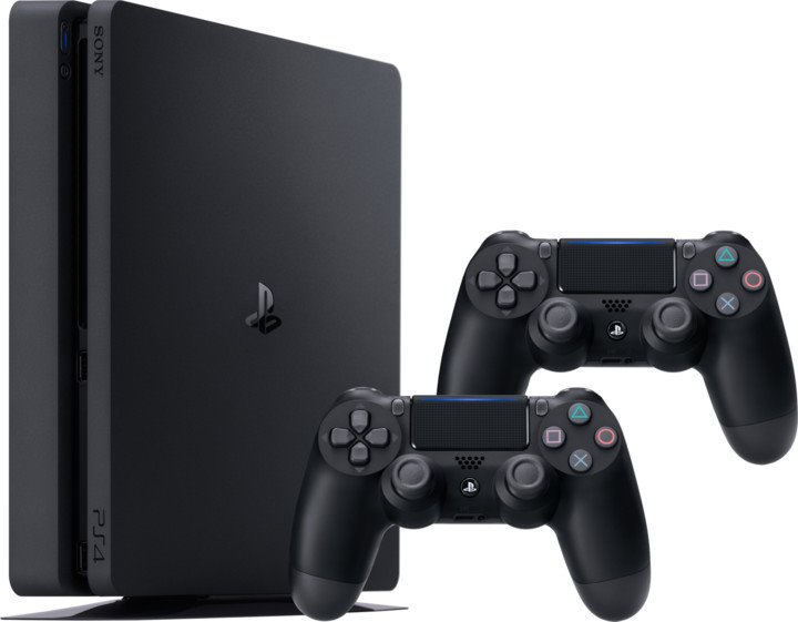 Sony PS4 Slim 1TB + 2 ks Sony Dualshock 4 ovladače