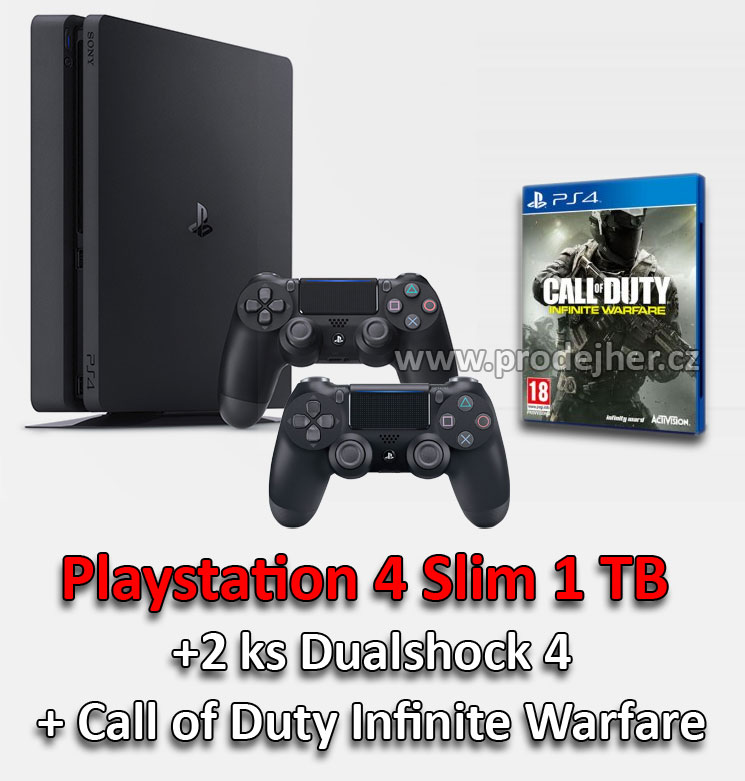 Sony Playstation 4 Slim 1TB Call of Duty Infinite Warfare Dualshock 4 bundle