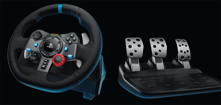 force feedback volant Logitech G29 na PS4 herní konzole